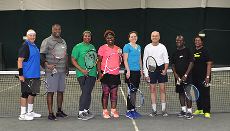 photo of competition winners mcta tennis winwin tis the season tennis social 2017