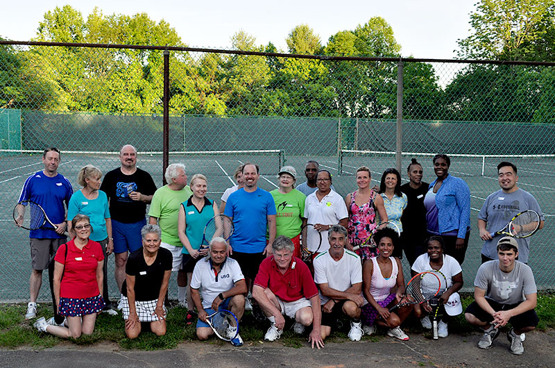 group photo mcta and tennis winwin Welcome Summer tennis social 2017