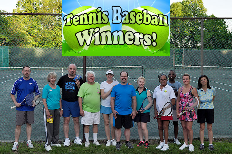 photo of competition winners mcta tennis winwin tis the season tennis social 2016