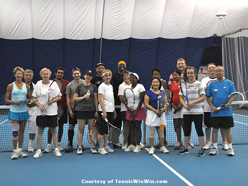 group photo Montgomery TennisPlex and Tennis Winwin 2015 Racquets and Rockets tennis and fireworks 4th of July party