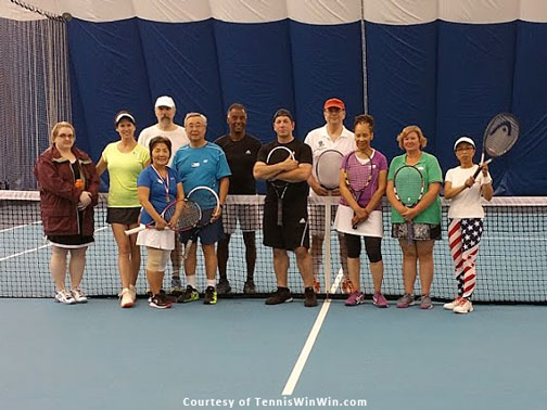 group photo Montgomery TennisPlex and Tennis Winwin 2016 Racquets and Rockets tennis and fireworks 4th of July party