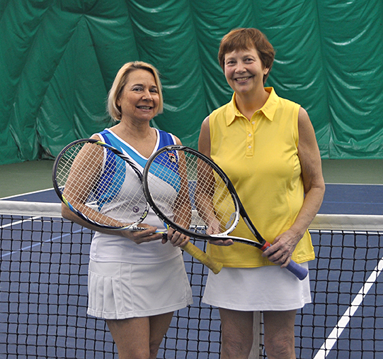 photo of Ann Bent and Beverly Purdue of Tennis WinWin