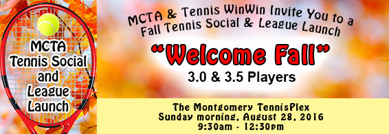 banner for mcta and tennis winwin Welcome Fall Tennis Social & League Launch on August 28, 2016