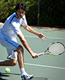 photo of tennis player similar to boy in MCTA and Tennis WinWin 2017 Winter Team Up high school boys tennis boot camp